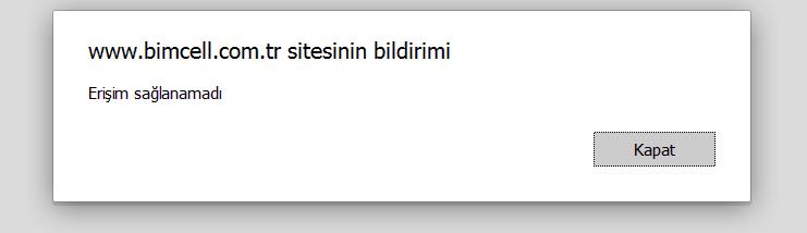 bimcell online islemleri login hatasi Bimcell Online İşlemler Erişim Sağlanamadı Giriş Hatası Çözümü